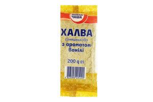 Халва подсолнечная с ароматом ванили Повна Чаша м/у 200г