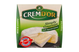 Сир 60% м'який Cremd`or Kaserei Сhampignon к/у 125г