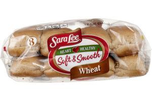 Sara Lee Soft & Smooth Hot Dog Buns Wheat - 8 CT