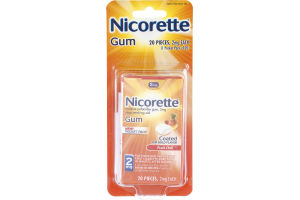 Nicorette Gum 2mg Fruit Chill - 20 CT