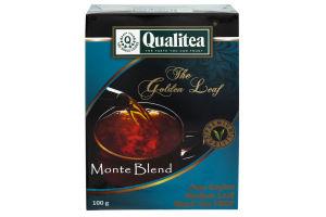 Чай черный среднелистовой Monte Blend Qualitea к/у 100г