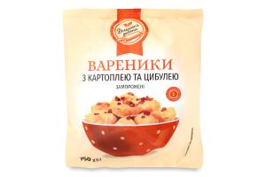 Вареники с картошкой и луком замороженные Домашня робота м/у 750г