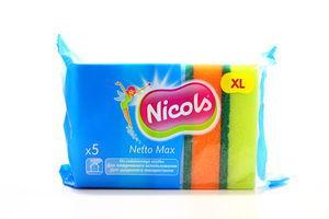 Губка шероховатая Netto Maxi Nicols 5шт