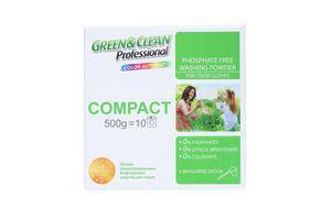 Порошок стиральный для цветного белья automat Compact Green&Clean Professional 500г