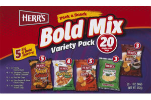 Herr's Bold Mix Variety Pack - 20 CT
