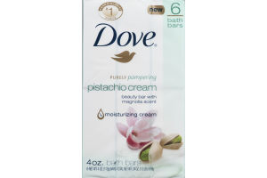 Dove Purely Pampering Bath Bars Pistachio Cream - 6 CT