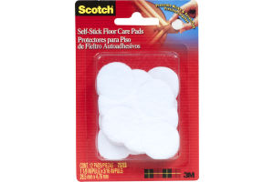 Scotch Self-Stick Floor Care Pads White - 12 CT