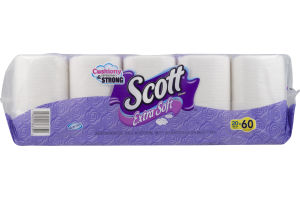 Scott Extra Soft Bath Tissue Mega Rolls - 20 CT