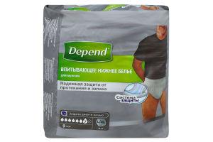 Підгузники-труси Depend д/чоловіків L/XL 48-56 9шт х6