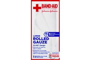 Band-Aid Rolled Gauze Large