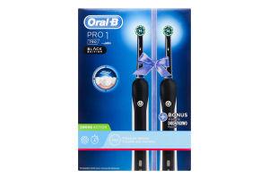 Щітка зубна електрична Pro 1 Black Edition Oral-B 2шт