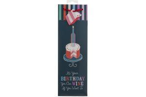 True Birthday Cake Wine Gift Bag