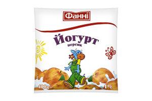Йогурт 1% Персик Фанні м/у 400г