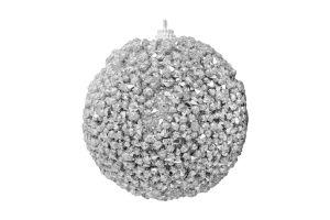 Украшение елочное Шар пенопласт серебряная 8см Y5