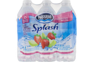 Nestle Splash Flavored Water Strawberry Melon - 6 PK