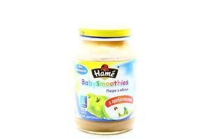 Пюре для детей от 6мес из яблок BabySmoothies Hame c/б 190г