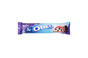 Шоколад молочный с кремовой начинкой и кусочками печенья Oreo Milka м/у 37г