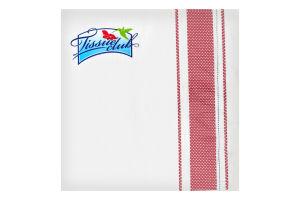 Серветки з малюнком текстиль 33х33 20 штук Tissue club