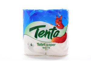 Бумага туалетная 2-х слойная White Tento 4шт