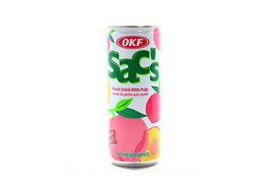 Напиток Персик OKF Sac's ж/б 240мл