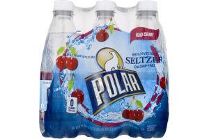 Polar Seltzer Water Black Cherry - 6 CT
