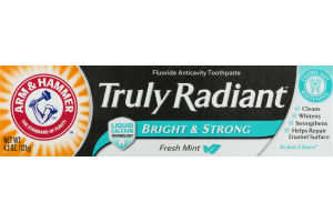 Arm & Hammer Truly Radiant Fluoride Anticavity Toothpaste Fresh Mint Flavor