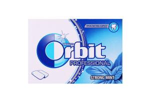 Резинка жевательная без сахара с ароматом мяты и ментола Strong mint Professional Orbit к/у 14г