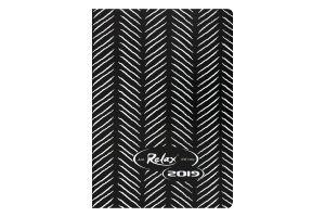 Ежедневник дат. 2019 RELAX, A6, 336 стр., черный