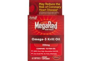 Schiff MegaRed Omega-3 Krill Oil - 65 CT