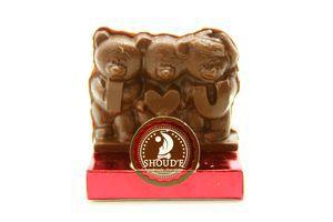 Шоколад Солодкий світ Три ведмідя фігурка 50г