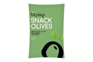 Оливки Olymp имбирь-трави зеленые б/косточки