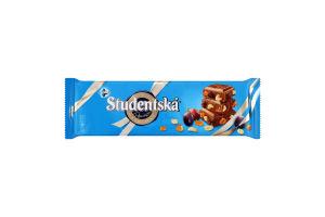 Шоколад молочний з арахісом желейними шматочками і родзинками Studentska м/у 280г