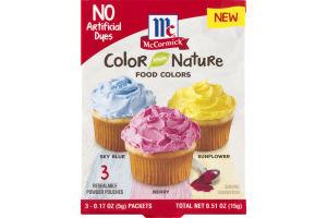 McCormick Color Nature Food Colors - 3 CT