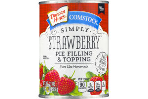 Duncan Hines Comstock Pie Filling & Topping Simply Strawberry