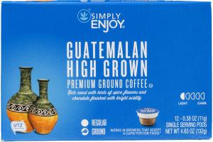 Simply Enjoy Premium Ground Coffee Pods Guatemalan High Grown - 12 CT
