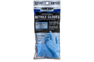 Firm Grip Pro Paint Disposable Nitrile Gloves Fits All - 12 CT