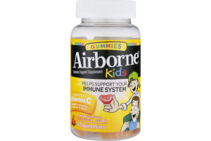 Airborne Kids Gummies Immune Support Supplement Assorted Fruit Flavors - 42 CT