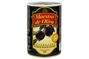 Маслини з кісточкою Супергігант Maestro de Oliva з/б 425г