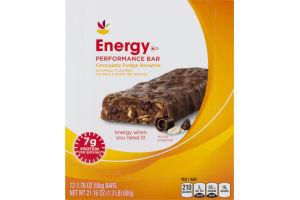 Ahold Energy Performance Bar Chocolate Fudge Brownie - 12 CT