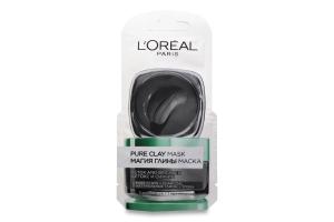 LOR_DERM_EXP маска 6 мл очищуюча з натурал. глиною та вугіллям, для сяяння шкіри Магія Глини