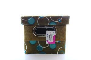 Короб Handy Home з кришкою Шоколад і бірюза FBB01-М