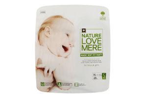 Подгузники для детей размер 5 10-14кг Magic soft fit panty NatureLoveMere 20шт