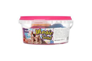 Набір для творчості рожевого кольору з ароматом полуниці для дітей від 3років №370-11 Magic Sand Strateg 1шт