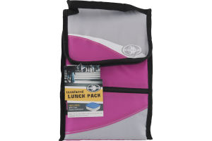 Arctic Zone Insulated Lunch Side Loading Hi Top Power Pack Pink