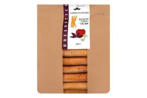 Палички хлібні з часником, базиліком та томатами Урожай м/у 200г