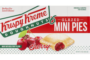 Krispy Kreme Doughnuts Glazed Mini Pies Cherry - 6 CT