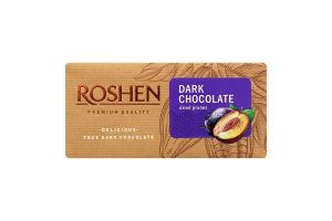 Шоколад черный с черносливом Roshen м/у 90г