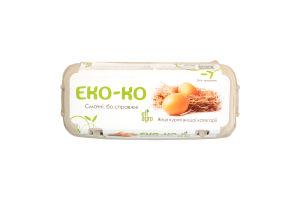 Яйца куриные высшей категории Эко-ко к/у 10шт