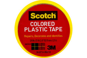 Scotch Colored Plastic Tape Yellow