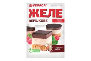 Желе с порошком какао Сливочное Украса м/у 90г